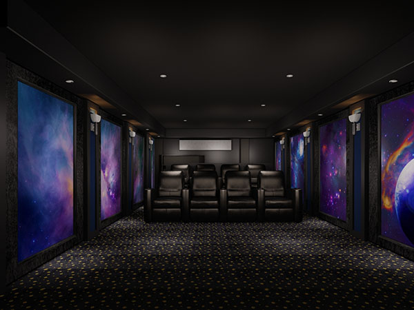 Retrofit Dedicated Home Theater